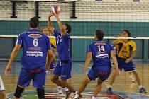 PRVNÍ VÝHRA. Nymburští volejbalisté vstoupili do sezony v první lize velice dobře