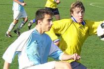 Z utkání dorostenecké divize Polaban Nymburk - Choceň (1:3).