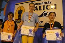 Nymburská plavkyně Šárka Vosecká si přivezla z Litoměřic čtyři medaile