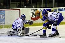 Z hokejového utkání druhé ligy Nymburk - Tábor (5:2)