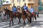 Dragouni pochodovali Nymburkem