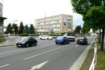 Křižovatka před policejním ředitelstvím