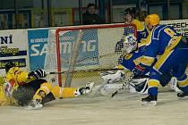 Z utkání druhé hokejové ligy Nymburk - Moravské Budějovice (5:3)
