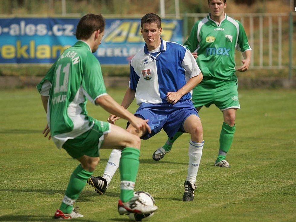 Z přípravného fotbalového utkání Polaban Nymburk - Benátky (1:2)