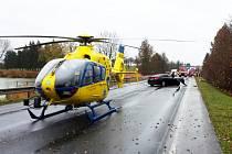 Na místě nehody krátce po střetu