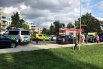 Vážná nehoda uzavřela ulici Za Nádražím v Poděbradech.