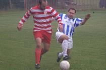 Z okresního derby I.B třídy Ostrá - Sadská (2:0)