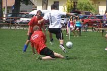 Z fotbalového turnaje v malé kopané Kevin cup hraný na hřišti v Odřepsích