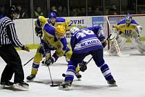Z utkání druhé hokejové ligy Nymburk - Kolín (4:1)