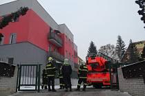 Požár bytu v Milovicích