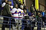 Z hokejového utkání druhé ligy Nymburk - Klatovy (9:1)