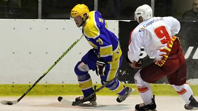 Z hokejového utkání druhé ligy Nymburk - Žďár n. S. (4:5)