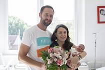 Eliška Martínková se narodila v nymburské porodnici 9. srpna 2021 ve 14.34 hodin s váhou 3020 g a mírou 49 cm. V Chlumci nad Cidlinou bude prvorozená holčička bydlet s maminkou Růženou a tatínkem Jiřím.