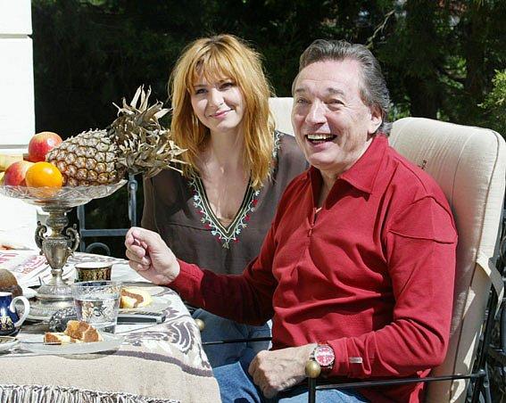 Karel Gott s přítelkyní Ivanou.