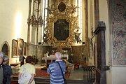 V chrámu svatého Jiljí.