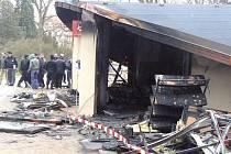 Na loučeňském zámku vyhořelo infocentrum