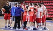 Trénink České basketbalové reprezentace na MS basketbalistů 2019 ve Sportovním centru Nymburk.