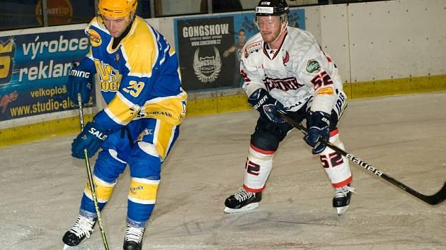 Z utkání druhé hokejové ligy Nymburk - Technika Brno (1:2 po SN)