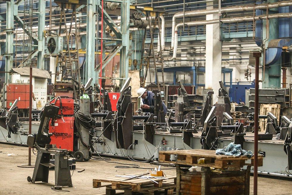 V areálu nymburské firmy Nymwag, výrobce železničních vagonů.