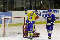Z utkání druhé hokejové ligy Nymburk - Jindřichův Hradec (4:0)