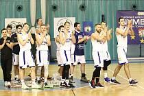 Z basketbalového utkání juniorů Písek - Nymburk (93:77)