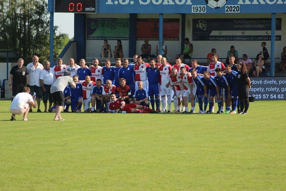 Fotbalové Krchleby slavily 90. výročí od svého založení. Přijela i garda pražské Slavie
