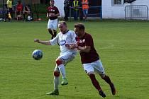 Z fotbalového utkání krajského přeboru Bohemia Poděbrady - Tuchlovice (1:3)