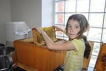 Na školní ekozahradě stáčely děti med. A nejen to
