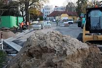 Aktuální situace na stavbě kruhových objezdů.