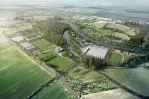 Původní podoba projektu Národního olympijského centra v Nymburce.
