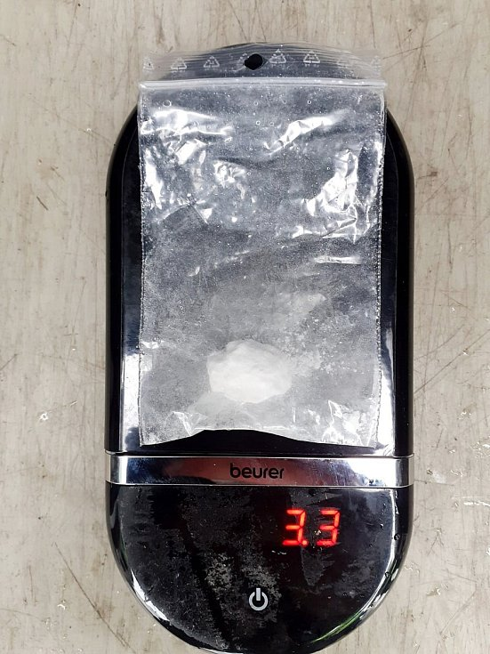 Sáček s kokainem.