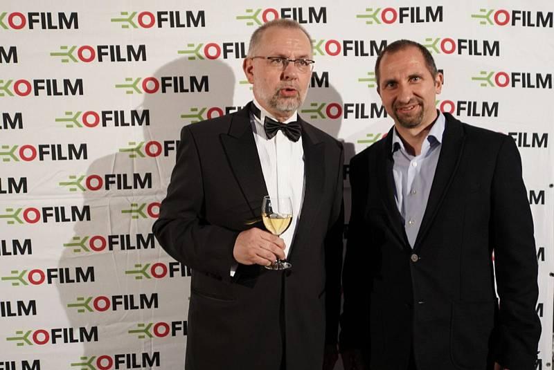 Prezident festivalu Ekofilm Ladislav Miko a ředitel ochranářské společnosti Česká krajina Dalibor Dostál.