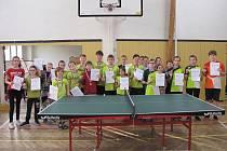 Rekordní účast. Okresních přeborů ve stolním tenise žactva se zúčastnilo rekordních čtyřiačtyřicet hráčů