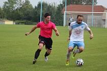 Z fotbalového utkání I.A třídy Vykáň - Horky (1:1)