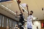 Z basketbalového utkání play off NBL Nymburk - USK Praha (100:78)
