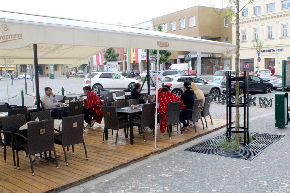 Restaurace Biograf v Nymburce.
