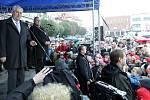 Prezident Miloš Zeman navštívil ve čtvrtek Nymburk.