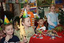 Výstava dinosurů v rožďalovické školce.