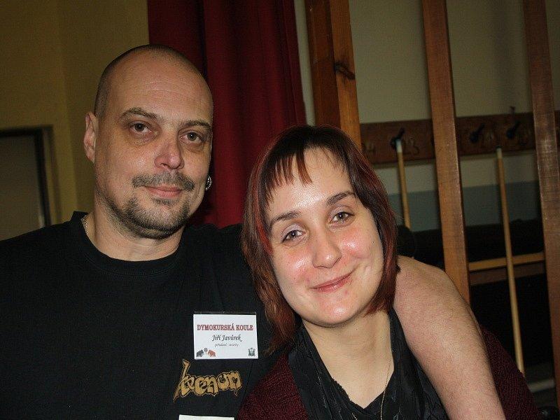 Jiří Javůrek s přítelkyní Kamilou