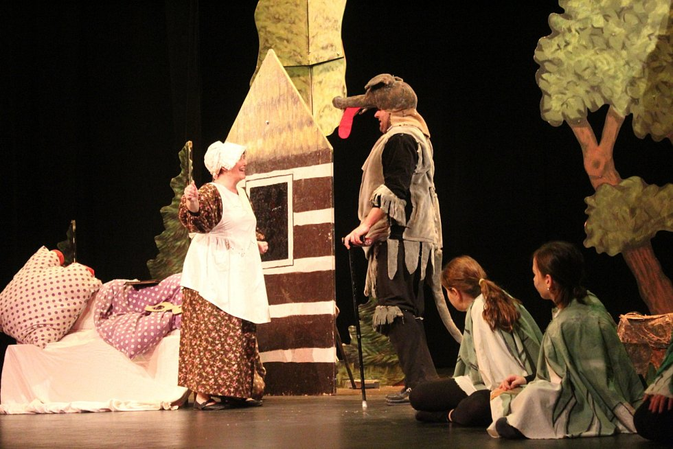 Budulínek a Červená Karkulka zaplnili divadlo hlavně dětmi.