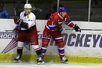 Z hokejového utkání druhé ligy Nymburk - DS České Budějovice (6:1)