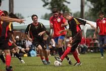 Z fotbalového turnaje v malé kopané, který hostily Odřepsy.
