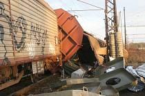 V sobotu vykolejil nákladní vlak u nymburského nádraží.