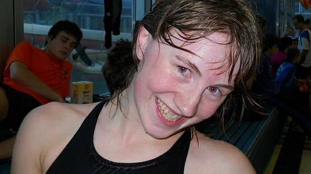 Anežka Nováková, plavkyně SKP Nymburk, si vytvořila tři nové osobní rekordy a pokořila také tři klubové