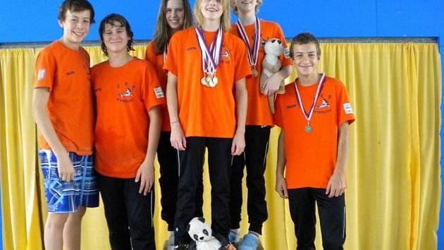 Plavci SKP Nymburk získali v kladenském aquaparku hned devět titulů přeborníka kraje