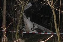 U milovického letiště se zřítilo letadlo