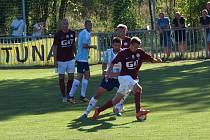 Z fotbalového utkání krajského přeboru Poříčany - Bohemia Poděbrady (2:1)