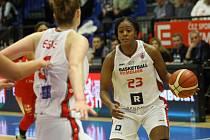 Z basketbalového utkání evropského poháru žen Nymburk - Miškolc (64:69)
