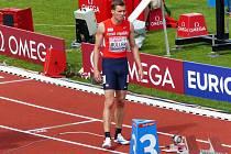 Vítek Müller skončil na ME v běhu na 400 m překážek na dvacátém místě.