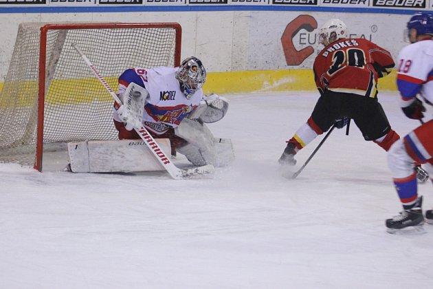 Z hokejového utkání play off druhé ligy Jablonec nad Nisou - Nymburk (3:1)
